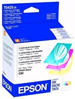 New EPSON Ink Cartridges Yellow Cyan Magenta 420 Pages For Epson Stylus CX5200/CX5400/C82/C82N
