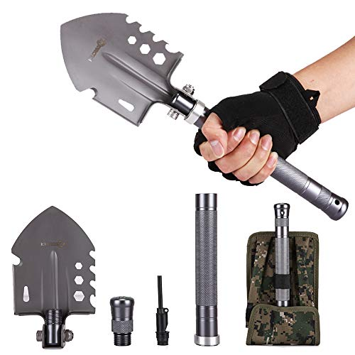 ANTARCTICA 15'' Military Portable Folding Shovel Multitool Compact Backpacking Tactical for Hunting,...