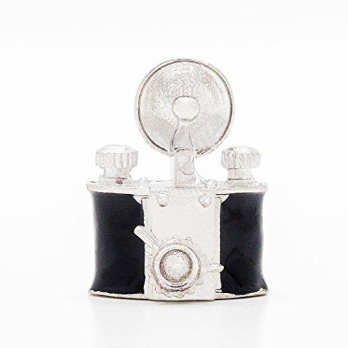 Odoria 1/12 Miniatura Antiguo Cámara Negro Decorativo para Casa de Muñecas