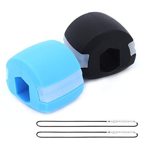TAECOOOL Machine d'exercice à double menton, exercice facial à mâcher, balle de fitness pour entraînement musculaire au menton masculin et féminin et levage du visage (2 pièces)