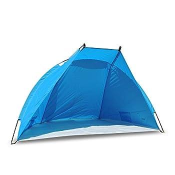 Outdoorer Tente de Plage Helios, Bleue, UV 80, Extra-légère, Petit Format, Coupe-Vent