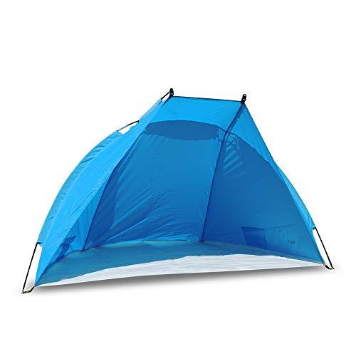 outdoorer Strandmuschel Helios - ideale Reise-Strandmuschel, UV Schutz 80, Mini-Packmaß, Strandzelt, Sonnenschutz & Windschutz für den Strand
