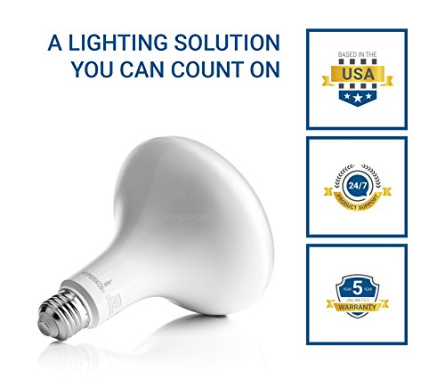 Hyperikon BR40 LED Bulb Dimmable, 15W=100W, CRI 90+, Wide Flood Light, E26, UL, Energy Star, Daylight White, 6 Pack