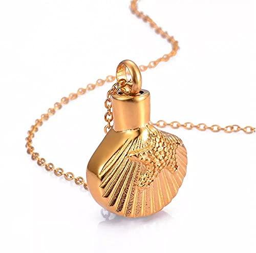 TIANZXS Collar con Colgante conmemorativo de urna de mar de Estrella de mar de Acero Inoxidable con Grabado Gratuito Personalizado para Hombres y Mujeres