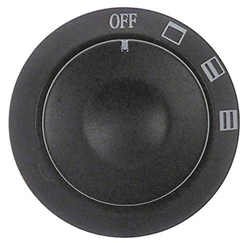 Bartscher knevel voor A151300, A151600 asafvlakking onder ø 41 mm zwart voor as 6x4,6mm symbool oven