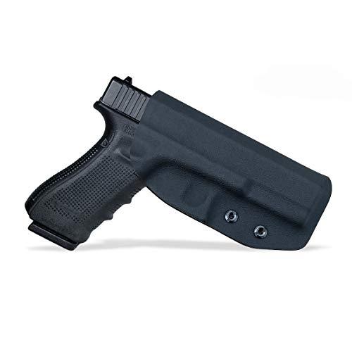 OWB Tactical KYDEX Pistolenholster Waffenholster Für: Glock 19 19x 23 32 17 22 31 25 26 27 33 30s CZ P10 Pistolenhalfter Pistole Waffentasche Pistol Case Holster Bund außen tragen (Black-2, Right)