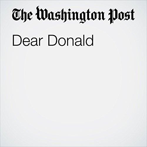 Dear Donald copertina