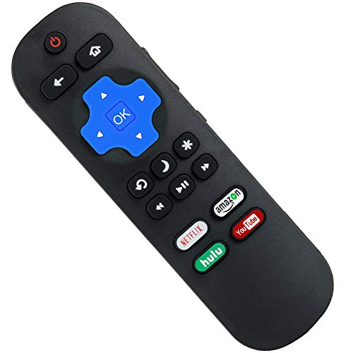 Replacement Remote Compatible with Roku TV, Compatible with Hisense/Onn/TCL/Haier/Sharp/Hitachi/LG/Sanyo/JVC/Magnavox/RCA/Philips/Westinghouse Roku Built-in Smart TV (Not Compatible with Roku Player)