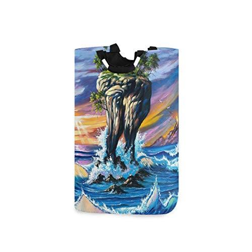 N\A Wäschekorb Faltbarer Eimer kollabiert Wäschekorb Künstlerischer Ozeanwaschbehälter für Heimorganisator Kinderzimmer Aufbewahrung Babykorb Kinderzimmer