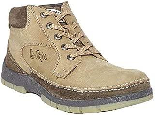 Lee Cooper Men's Camel Leather Sneakers