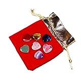 YSJSPOL Piedras y Cristales 7pc Natural Love Crystal Crafts Set Stone Set 7 Colores Yoga Energy Art Piedra para la decoración del hogar Chicas (Color : Light Grey)