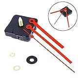 ROSENICE Kit de movimiento silencioso del reloj Mano roja del reloj recto para el reemplazo del reloj de DIY