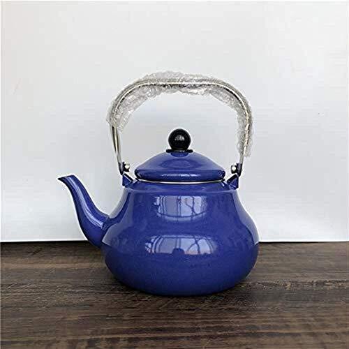 FEE-ZC Hervidor de Agua nórdico, 2L Hervidor de Esmalte Cocina de inducción Gas Universal Tetera doméstica Hervidor de Porcelana Azul
