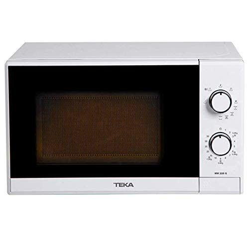 Teka - Microondas Grill, Modelo MW 225 G, 20 Litros, 5 Niveles de potencia, 700-1000 W, Blanco, 25.8 x 44 x 34 cm
