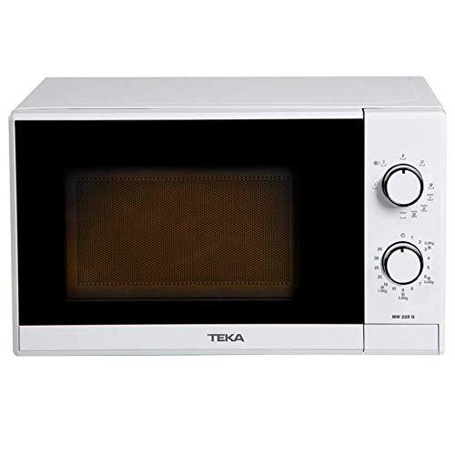 Teka - Microondas Mecánico, Modelo MW 225, Grill, 20 litros, 5 Niveles de potencia, 700 W, Color Blanco