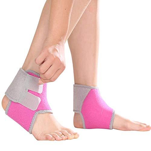 Selotrot Kinder Atmungsaktiv Knöchelstütze Bremsbeläge Verstellbar Fuß Wrap Kompression Stütze Schutz - Rose rot, M