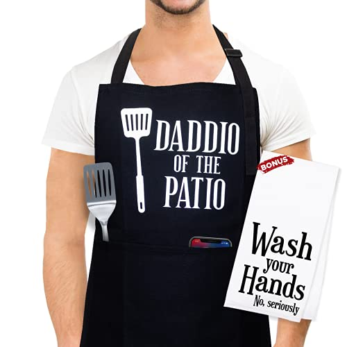 Cooking Apron for Men, Grill Apron for Men - Grilling Gifts for Dad - Aprons for Men, Funny Apron, Birthday Gifts for Dad, Grill Apron for Men Funny, Funny Aprons for Men, Funny Gifts for Dads