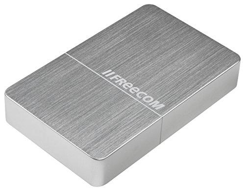 Freecom mHDD Desktop Drive, externe Festplatte 10 TB mit USB 3.0, bis zu 5 GBit/s Übertragungsgeschwindigkeit, Silber, 56403