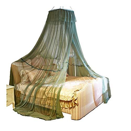 ZHAO YELONG Keine Hautreizung Moskitonetz for Haus,Bett-Überdachung for Doppel- Und Einzelbett,Dome Moskitonetz Moskitonetz Netz-Bett-Zelt Mit Klebehaken (Color : Green, Size : S)