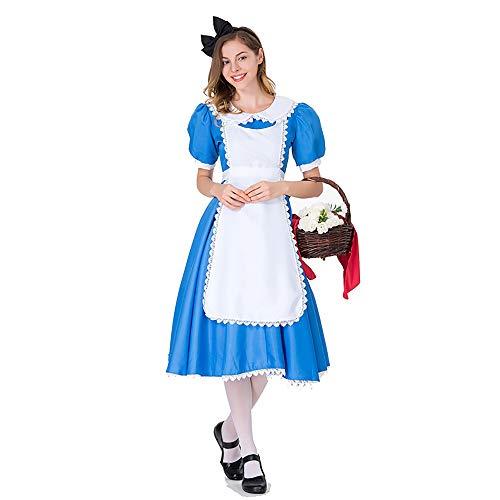 Shihong-G Alicia en el pas de Las Maravillas Cheshire Cat Cosplay Disfraz Fiesta de Halloween Cosplay Disfraz de mucama Lolita Elegante Vestido Kawaii Conjunto Completo