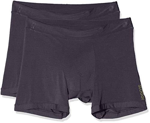 Sloggi Herren GO Allround Short Boxershorts, Grau (Graphite 3547), Medium (Herstellergröße: One) (2er Pack)