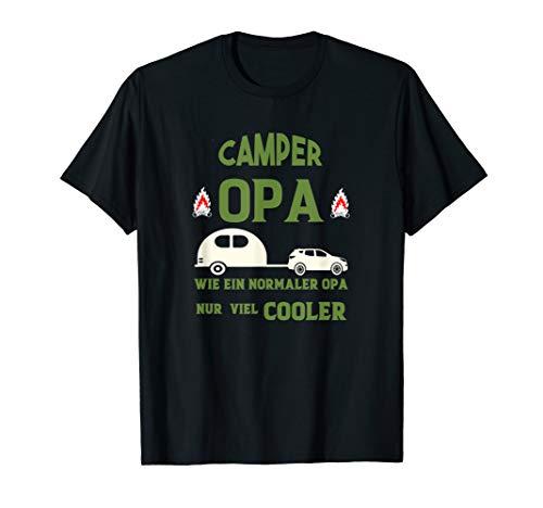 Cooler Camper Opa Geschenk für Campingfans mit Wohnwagen T-Shirt