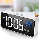 tronisky Reloj Despertador Digital, LED Reloj Despertador Electrónico con Espejo Pantalla, 2...