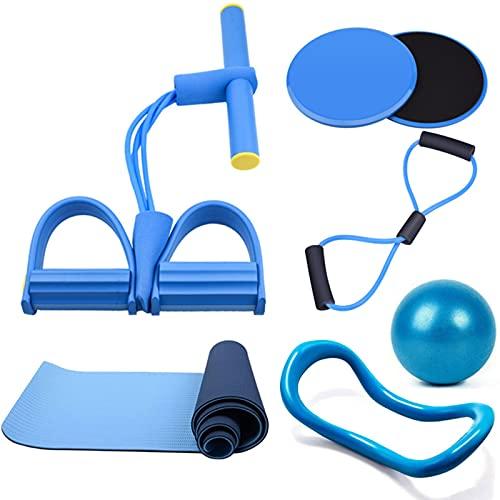 tyui Juego de alfombras de Yoga, Cuerpo para Principiantes esculpiendo Espalda Abierta Belleza de Espalda de Belleza Artesifact Yoga Mat Foot Pedal Supplies, Fitness Equipamiento Deportivo