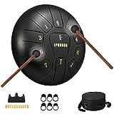 Moukey 10' Steel Tongue Drum a 8 note Strumento a percussione in acciaio con custodia