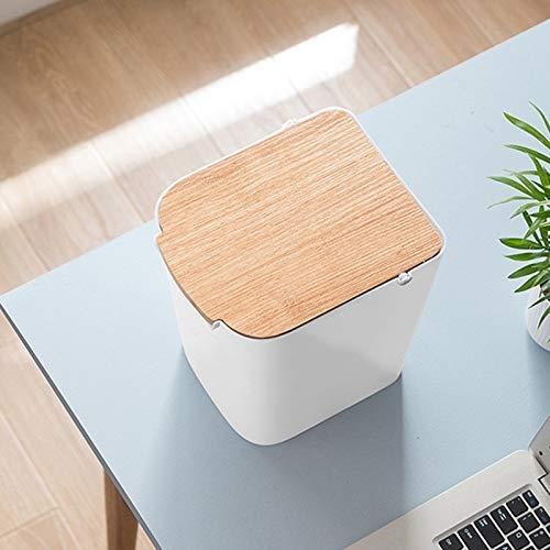 Umwelt Trash Can Haushalts Trash Can Press Vorratsbehälter mit Deckel Abfalleimer Küche Badezimmer Trash Can Bento Lunch Box for Kinder (Farbe: Grün) 1yess (Color : White)