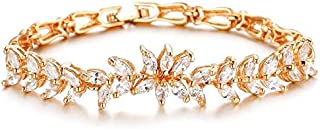 OPK Fashion Cubic Zirconia Sweet Crystals Bracelet 18K Gold Plating For Ladies