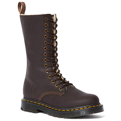 Dames Dr Martens 1914 Kolbert Tall Neigeplow Wintergrip Waterdichte laarzen - Donkerbruin - 40