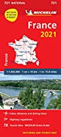 France 2021 - Michelin National Map 721: Maps (Michelin National Maps)