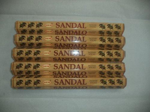 Hem Sandal (Sandalwood) 100Räucherstäbchen Sticks (5x 20Stick Packs) by Hem