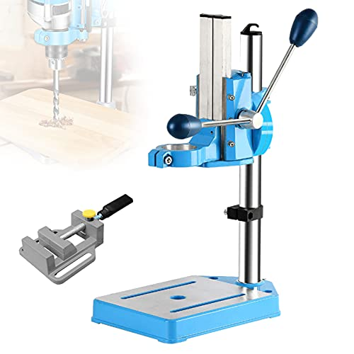 FRIBLSKEL Stand Workbench Repair Tool, Bench Drill Press Stand 90° Rotatable Fine Tuned Design, Bench Drill 38-50mm Clamping Range Adjustable Height,B