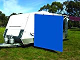 CAMWINGS RV Awning Privacy Screen Shade Panel Kit Side Sunblock Shade Drop 8 x 8ft, Blue