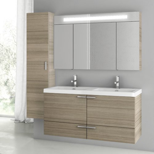 Best Buy! ACF ANS195-637509932527 New Space Collection Vanity Set, Larch Canapa