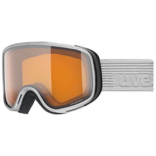 uvex scribble LG Gafas de esquí, Juventud unisex, rhino/lasergold-clear, one size