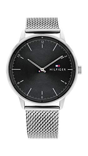 Tommy Hilfiger Herren Analog Quarz Uhr mit Edelstahl Armband 1791842