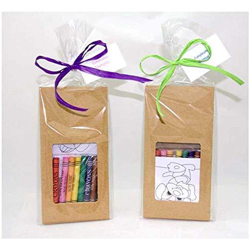 Lote 10 Sets Infantil con Plantillas y Ceras para Colorear. Se Entrega Preparado con Tarjeta Personalizada.