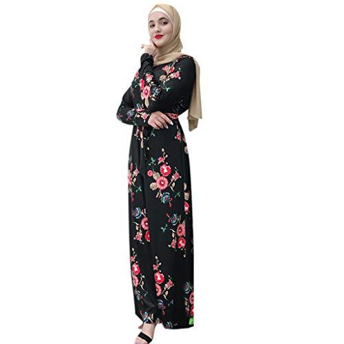 Lazzboy Muslimische Frauen Bescheidenen Maxi-Kleid Abaya Türkei Kaftan Kleidung Spitze Langarm Tunika Dubai Kleider Damen Abendkleid Muslim Knöchellang Hochzeit Gewand Islamische