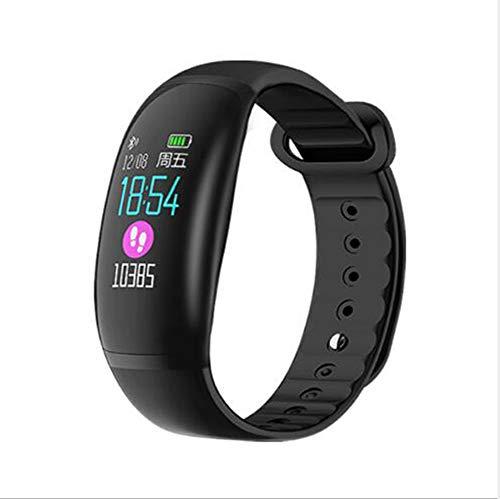 Pantalla Táctil Reloj Inteligente,Impermeable para Hombres Mujeres Reloj Pulsera De Actividad Monitor De Frecuencia Cardíaca Smart Watche Compatible con Teléfonos iOS Y Android Negro 0.96inch