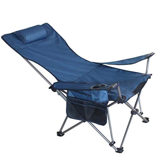 PLBB3K Silla de Negro portátil Ocio Playa plegamiento de la Siesta (Color : Blue)