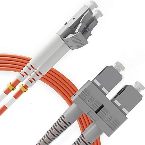 LC to SC Fiber Patch Cable Multimode Duplex - 1m (3.28ft) - 50/125um...