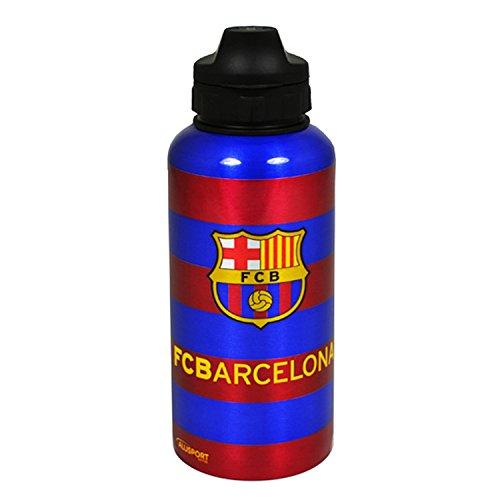 Aluminium-Wasserflasche / Trinkflasche mit FC Barcelona Messi Trikot Design (Einheitsgröße) (Scharlachrot/Blau)