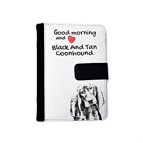 Black and Tan Coonhound, Extraordinary notebook made of eco-leather with a dog