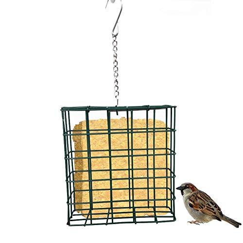 Purebesi Vogelhäuschen,Quadratisches Vogelbrot Instant-Nudel-Vogelhäuschen,ca 12x13x4,7 cm