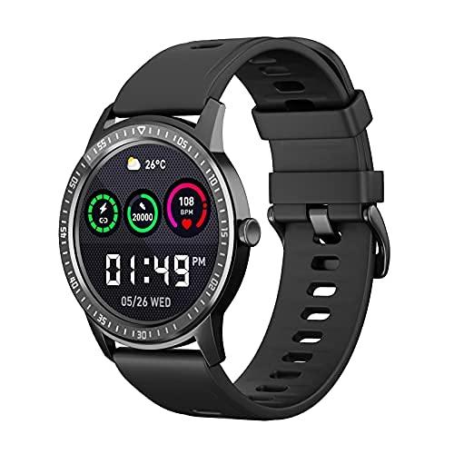 LIHENG Reloj inteligente para hombres Q669 Smartwatch IP67 impermeable rastreador de actividad fitness Tracker reloj corazón Monitor para hombres mujeres respetable, negro,