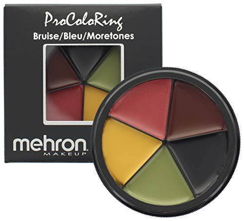 Mehron Makeup 5 Color Bruise Wheel for Special Effects, Movies, Halloween