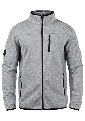 Indicode Esher Herren Softshell Jacke Funktionsjacke Übergangsjacke Mit Stehkragen, Größe:M, Farbe:Grey Mix (914)